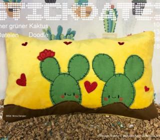 Kaktus 10x10-18x30 Doodle Stickatei