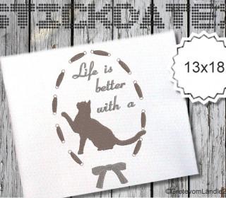 Katze 13x18 Stickdatei