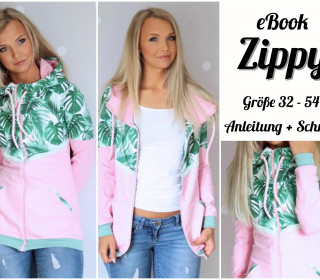 eBook - Damen Jacke Zippy - Gr. 32 - 54 Inkl A0
