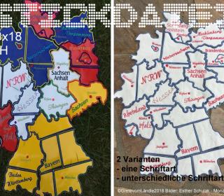Deutschlandkarte 13x18 Puzzle Stickdatei