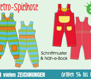 Ebook - Retro-Spielhose Gr. 56-116