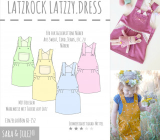 SCHNITTMUSTER EBOOK LATZKLEID LATZZY.DRESS