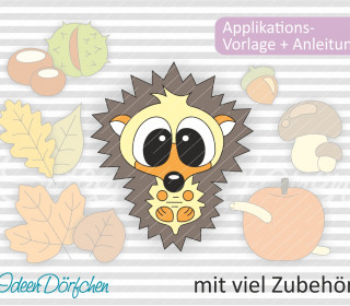 Applikationsvorlage Igel Paulchen eBook