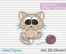 Applikationsvorlage Katze Kater Oskar eBook