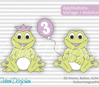 Applikationsvorlage Frosch Egon eBook