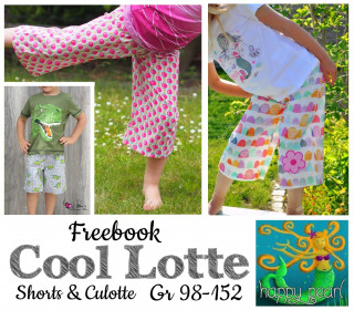 FREEBOOK Cool Lotte Short & Culotte Gr 98-152 Happy Pearl