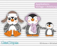 Applikationsvorlage Pinguine Fritz und Lotti eBook