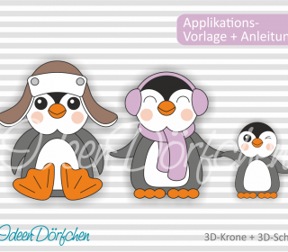 Applikationsvorlage Pinguine Fritz und Lotti eBook