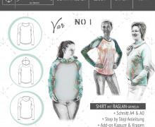 Ebook - Moin #VarNo1 - Raglanshirt - Damen Gr.32-44