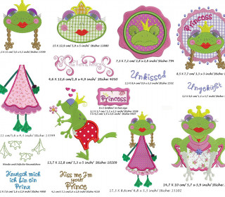 Stickdatei Froggi Princess 130x180