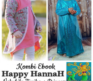 Kombi-Ebook - HAPPY HANNAH & PRINCESS  Gr.  86 - 152 von Happy Pearl