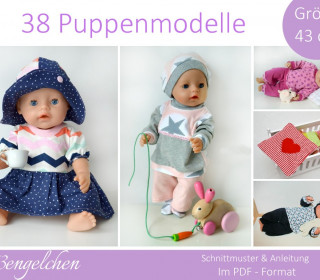 Ebook - 37 Schnitte Gr: 43cm Puppen - Puppenkleidung