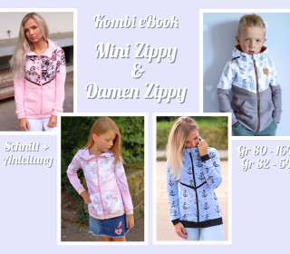 Kombi Ebook Mini Zippy u Damen Zippy Sweat Jacke inkl A0 Datei