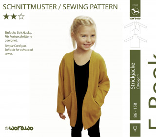 E-Book Strickjacke Kinder 86 - 158