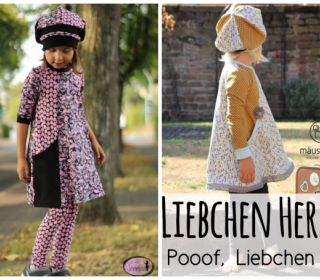 Taschenkleid Liebchen / Pooof und Leggings Kombi-Ebook by From heart to needle