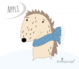 Igel Smiddie Applikationsvorlage by GroWidesign