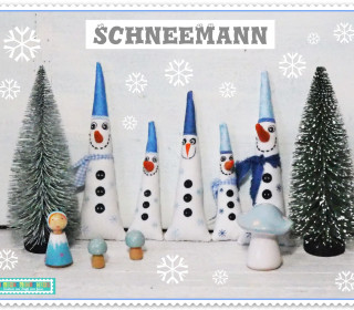 Stickdatei ITH Schneemann Winter Advent in-the-hoop