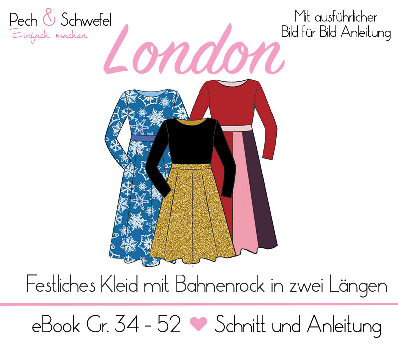 "E-book – Kleid ""London"" für Damen Gr. 34 – 52 (in A4 und A0)"