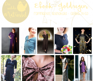 Ebook Goldregen raffiniertes Abendkleid Größe 34-50