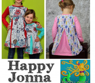 Ebook  - HAPPY JONNA  Kellerfalten Tunika Gr. 86 - 152  von Happy Pearl