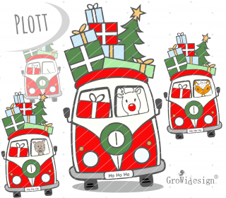 Weihnachtsmobil Plotterdatei by GroWidesign