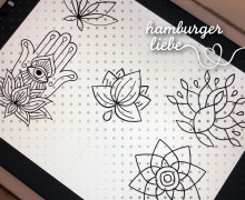 Plotterdatei – Yoga Symbole Set – Hamburger Liebe