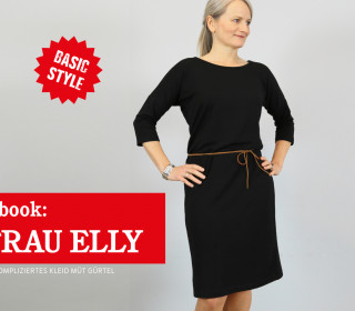 eBook - FRAU ELLY - unkompliziertes Kleid mit Gürtel / 2 Ärmellängen XS-XXL