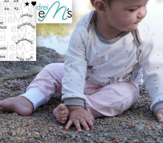 Newborn-Set LOU Hose+Shirt  Gr. 50-92 icl. gratis Plottdatei