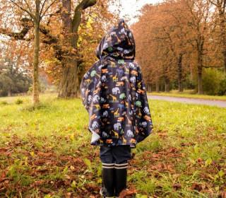 Regenponcho für Kinder - Schnittmuster und Nähanleitung