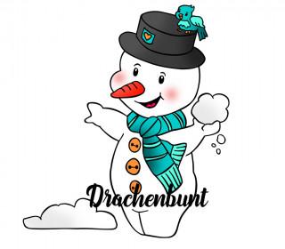 Plotterdatei Schneemann Winter Schneeballschlacht