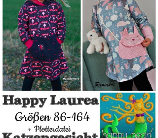 Ebook - Happy Laurea + Plotterdatei Katze Longhoodie/Kleid Gr. 86 - 164  von Happy Pearl
