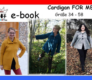 Nähanleitung ☆ Cardigan FOR ME ☆ Größe 34 bis 58 ☆ Ebook ☆ E-Book