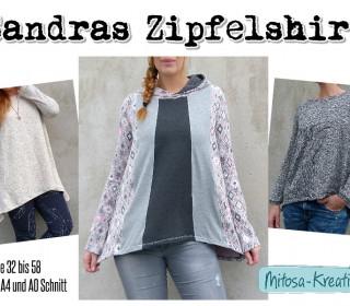 Ebook - Shirt Sandra ´s Zipfelshirt Gr. 32-58