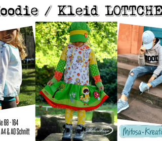 eBook Hoodie / Shirt / Kleid LOTTCHEN Gr. 68 - 164 MiToSa-Kreativ Schnittmuster Nähanleitung UNISEX