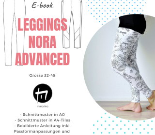 Leggings Nora Advanced / Digitale Nähanleitung inkl. Schnittmuster in A0 und A4