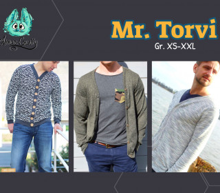 Ebook - Mr. Torvi Gr. XS-XXL - Cardigan für Herren