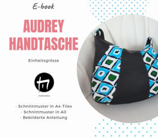 Audrey Handtasche / Digitale Nähanleitung inkl. Schnittmuster in A4 und A0