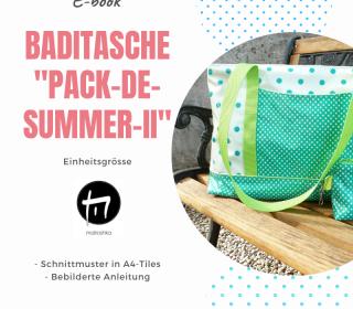 Badetasche / Digitale Nähanleitung inkl. A4-Schnittmuster