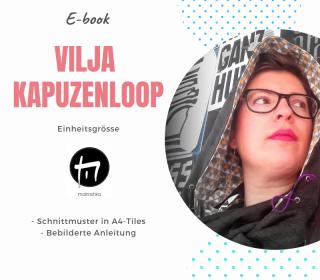 Kapuzenloop Vilja One-size / Digitale Nähanleitung inkl. Schnittmuster in A4