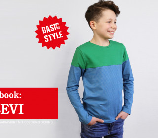 Ebook LEVI - Langarmshirt mit Colourblocking 86-152
