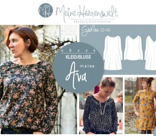 # 55 eBook - meine AVA - Kleid/Bluse - Größe 32-46