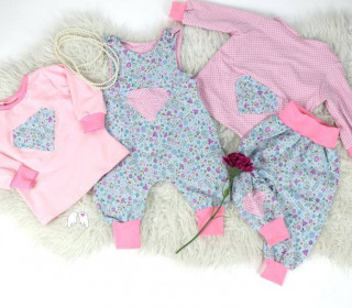 eBook - Diamond Baby Bundle Gr. 50-92 Romper Hose Shirt Cardigan