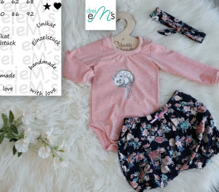 Newborn LOU SET Bodys ,kurze Hose, Haarband  Gr. 50-92 + gratis Plott-Datei