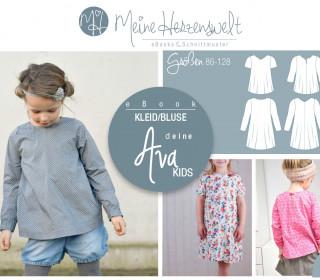 # 56 eBook - deine AVA Kids - Kleid/Bluse - Größe 86-128