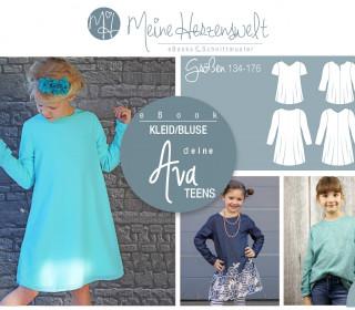 # 57 eBook - deine AVA Teens - Kleid/Bluse - Größe 134-176