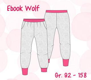Ebook Wolf - Hose - Jogginghose - mit Bündchen Gr.92-158