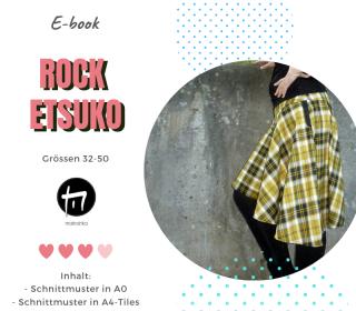 Rock ETSUKO - Gr. 32-50 / Digitale Nähanleitung inkl. Schnittmuster in A4 und A0
