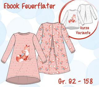 Ebook Feuerfalter - Kleidchen oder Sweatshirt - Gr. 92-158