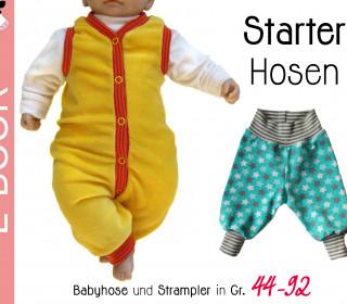 """e-Book """"STARTER-HOSEN"""" Strampler & Babyhose - Gr. 44-92"""