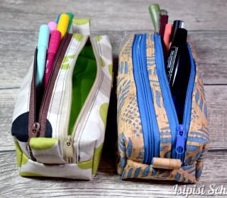 Doppelzippertasche